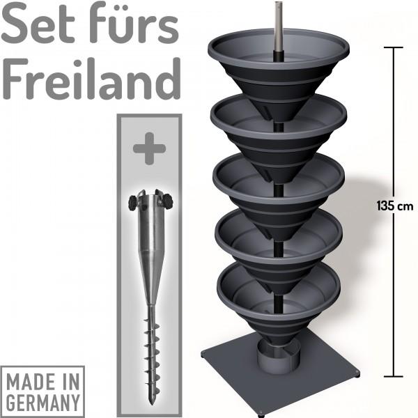 Vertical Garden XL Kombi-Set schiefergrau
