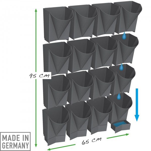 Vertical Garden WALL 16x complete set anthracite