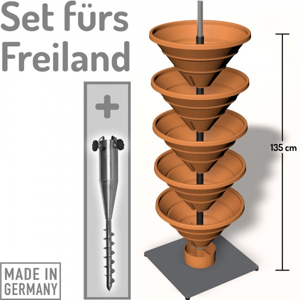 Vertical Garden XL Combination set terracotta