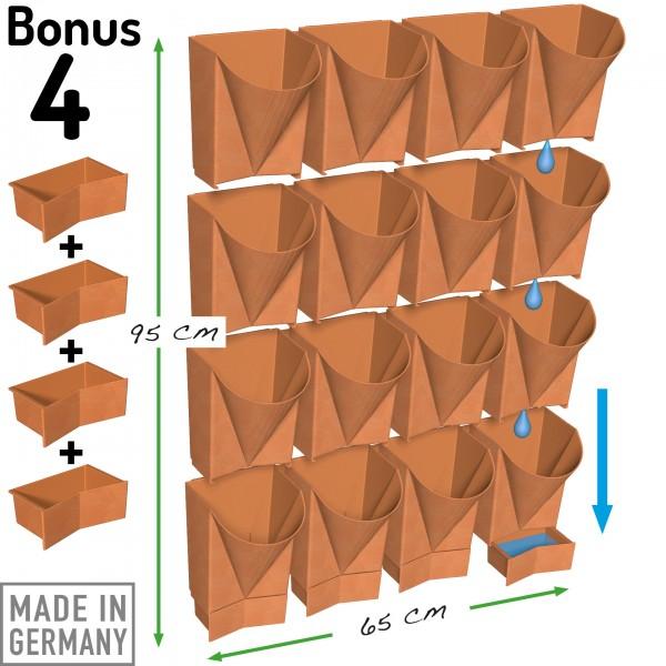 Wand-Gefäße mit Extra-Entwässerungs-Schubladen für individuelle Anordnungen